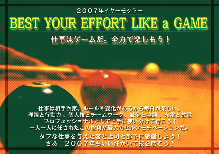 Best your effort like a game