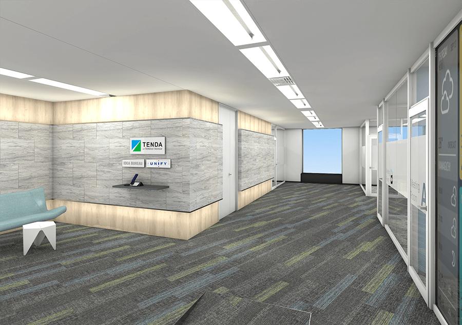 株式会社テンダの新オフィス(エントランスイメージ)